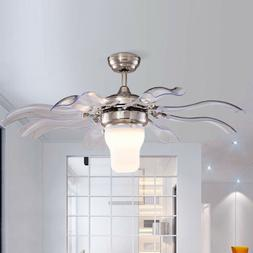 Modern Style Ceiling Fan with LED Light and Remote Control 3
