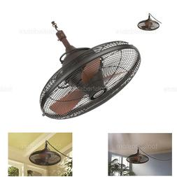 NEW Ceiling Fan Outdoor Bronze Oil Rub Pavilion Patio Lodge