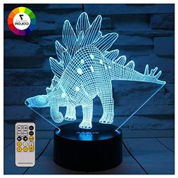 ZOKEA Dinosaur Toys Night Lights for Kids 7 Colors Changing