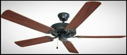 Oil Rubbed Bronze 52 Inch Ceiling Fan 5 Blade 3 Speed Pull C