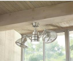 Outdoor/Indoor Twin Oscillating Gyro Ceiling Fan LED Light I