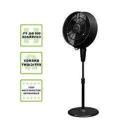 Outdoor Misting Fan Powerful Misters Cover- up 500 sq. ft. L
