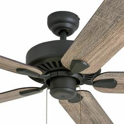 Rustic Ceiling Fan with Remote Low Profile Mount Farmhouse W