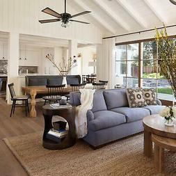 Rustic Farmhouse Ceiling Fan Light Fixture With Remote Contr