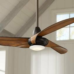 "56"" Sleuth Oil-Rubbed Bronze LED Ceiling Fan"