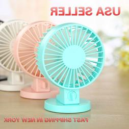 Super Quiet Double blade 2 Speed Portable USB Office Fan wit