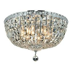 Elegant Lighting Tranquil 8 Light Flush, Chrome/Royal Cut Cr
