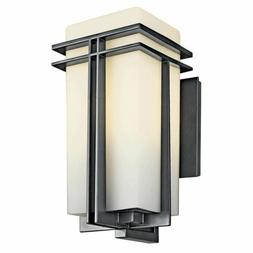 Tremillo Outdoor Wall Lantern in Black - Size / Bulb Type: 2