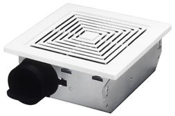 Broan Ventilation Fan, White Square Ceiling or Wall-Mount Ex