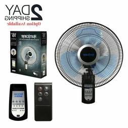 Wall Mount Fan Oscillating Outdoor Indoor Remote Electric 16