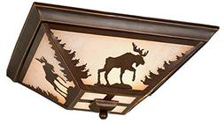 Yellowstone Indoor Burnished Bronze 5.75 in. Ceiling Light